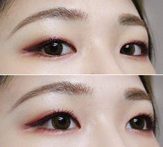 No photo description available. Korean Makeup Look, Korean Makeup Tips, Asian Eye Makeup, Blue Eye Makeup, Make Beauty, Beauty Makeup, Makeup Inspo, Makeup Inspiration, Asian Makeup Tutorials