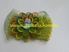 Diy Hermosa flor tela organza o tul  y  cordón cola de ratón. Organza Bows