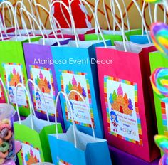 Favors at a Candyland Party #candyland #partyfavors
