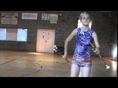 Baton twirling 2 baton trick