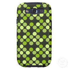 Green dotted pattern galaxy s3 covers