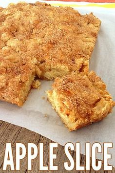 This Apple Slice is deliciously simple to make and simply delicious to eat. Enjoy!