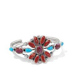Najavo Flowering Bracelet In Turquoise – Tribal Native L.A.