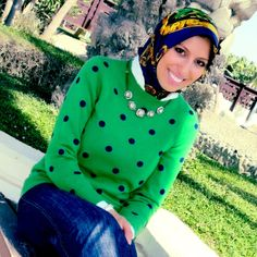 HH Style Guide: Statement Polka Dot Sweater + Chain Link - Haute Hijab