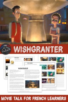 Wishgranter - what happens when the man in charge of granting wishes can't do his job? Find out in this movie talk for French learners. High School French, High School Spanish, French Movies, French Stuff, French Teacher, Teaching French, Teacher Resources, Teaching Ideas, Comprehensible Input