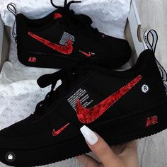Dr Shoes, Nike Shoes Blue, Cute Nike Shoes, Nike Shoes Air Force, Hype Shoes, Red Nike Shoes Womens, Nike Air Force Max, Jordan Shoes Girls, Girls Shoes