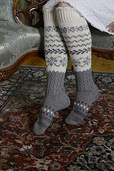 Ravelry: Jäämeren velho pattern by Merja Ojanperä Knitting Socks, Hand Knitting, Knitting Patterns, Knit Leg Warmers, Knitted Slippers, Knee High Socks, Stay Warm, Handicraft, Ravelry
