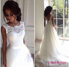 Wedding Dress,Delicate Lace V-back Wedding Gown, Bridal Dress, Formal Wedding Dress,Custom Made Wedding Dress,Wedding Gonws 2018,Tulle and Lace Wedding Dress PD20187046
