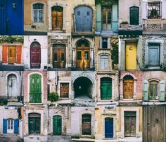 A magnificent collection of doors from a little town in the South of France.