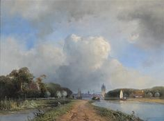 Johan Barthold Jongkind. 1844 View of the Vliet near Delft.