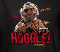 Labyrinth t-shirt with Hoggle printed on it.