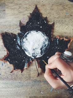 I Paint On Fallen Autumn Leaves