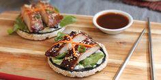 Teriyaki Chicken Sushi Style Rice Cakes