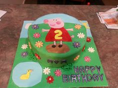 Pepps pig cake