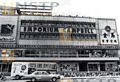 Campbell Emporium on Campbell Road - one of the first modern shopping complex in K.L. Years later this area together with Chow Kit was subject to the hideous bloodbath by the Army during the 1969 racial riots, shooting any Chinese on sight. Two Hokkien Mee sellers I knew, one in Chow Kit and one in Campbell died.