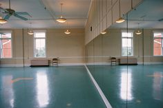 bright color floor - retro