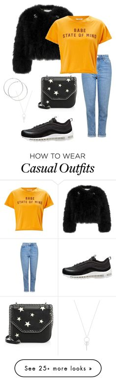 """Casual day ⚡️"" by ghuusvds on Polyvore featuring Erdem, STELLA McCARTNEY, Topshop, Miss Selfridge and NIKE Girly Outfits, Casual Outfits, Erdem, Issa, Miss Selfridge, Casual Wear, Stella Mccartney, Topshop, Ootd"