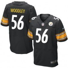 NFL Men's Elite Nike  Pittsburgh Steelers #56 LaMarr Woodley Team Color Black Jersey $129.99