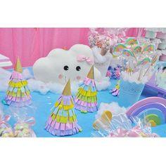 1st Year Baby Party Childrens Babyshower Birthday Ideas Rain Love Shower Cloud Clouds Dessert Table Pregnancy Christening