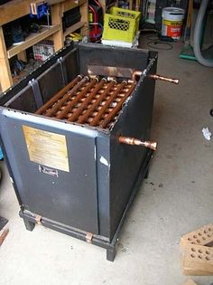 homemade propane pool heater | propane or wood-fired water heater for a hot-tub