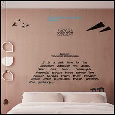 "STAR WARS - STICKER : Texte en perspective, ""Empire contre attaque"". A long time ago : Décorations murales par citystic"