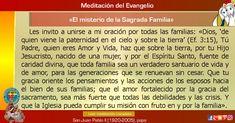 """MISIONEROS DE LA PALABRA DIVINA: MEDITACIÓN DEL EVANGELIO - """"El misterio de la Sagr..."""