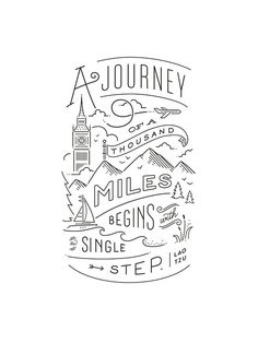 A journey of a 1000 Miles begins with a single step! #justaway #travel #quotes #reisen #urlaub