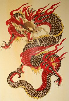 Chinese Dragons are legendary creatures in Chinese mythology and Chinese folklor. - Chinese Dragons are legendary creatures in Chinese mythology and Chinese folklor… – Chinese Dr - Chinese Dragon Drawing, Red Chinese Dragon, Japanese Dragon Tattoos, Japanese Tattoo Art, Red Dragon, Chinese Art, Japanese Art, Dragon Drawings, Japanese Sleeve