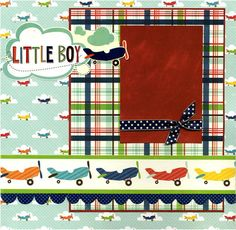 Two Premade Scrapbook Pages - Little Boy. $25.95, via Etsy.