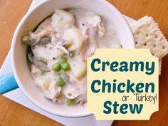 """Creamy Chicken (or Turkey) Stew aka """"Leftover Stew"""""""