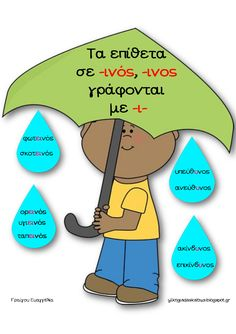 Grammar Exercises, Material Board, Greek Language, School Psychology, Special Education, Classroom, Blog, Spelling, Teaching Ideas