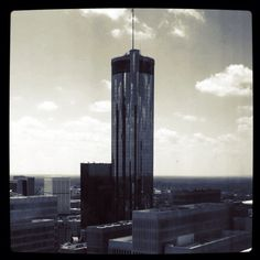 The view from the Marriott Marquis, Atlanta, onto the Westin Peachtree.