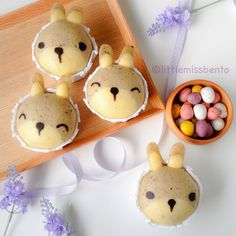 Bunny Yogurt Steamed Cake Recipe (Japanese Mushi-pan) うさぎのデコ蒸しパンのレツピ - Little Miss Bento