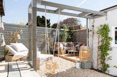 12 Pergola Patio Ideas that are perfect for garden lovers! Pergola Patio, Pergola Canopy, Pergola Swing, Wooden Pergola, Pergola Shade, Pergola Plans, Cheap Pergola, Corner Pergola, Aluminum Pergola