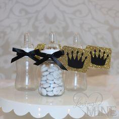 Little Prince Baby Bottle Favors in Black & by LovinglyMine, $15.00