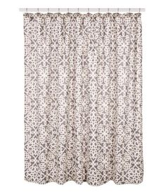 Southern Living Tile Cotton Shower Curtain