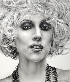 Lady Gaga by casparofambrose on deviantART ~ traditional pencil art
