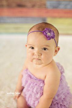 Hydrangea purple baby headband  purple flower clear by LucyLullaby