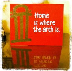 "Home is Where the Arch is - UGA Quote on 11 x 14"" Canvas"