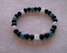 Bracelet Achate givré par look4treasures sur Etsy