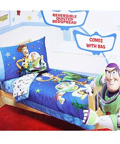 Disney Buzz Woody And The Gang 4 Piece Toddler Bedding Set Bedbathandbeyond Com My Wishlist In 2019 Toy Story Toddler Bed Baby Crib