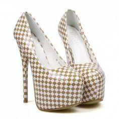 $16.77 Elegant Women's Sexy Stiletto Heel Pumps With Color Block Checked Design