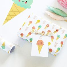 NEW In! Ice Cream Love gift wrap - a treat for ice cream lovers!
