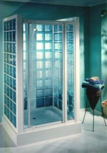 1000 images about brique de verre on pinterest montages for Salle de bain mur en verre