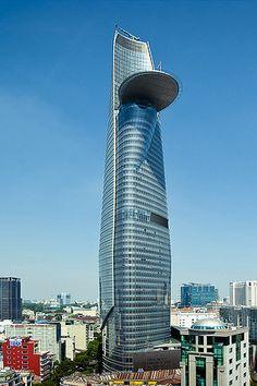 La Bitexco Financial Tower en Ciudad Ho Chi Minh es el tercer edificio más alto de Vietnam.