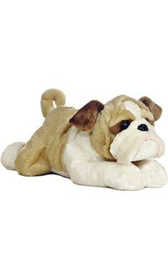 """Aurora World Flopsie 12"""" Stuffed Bulldog Willis Best Price"""
