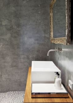Bathroom - concrete walls  peppermags: January 2012