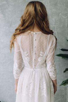 Одежда и аксессуары ручной работы. Заказать Платье SS17 , свадебное платье, белое платье, кружевное платье. Baby-Doll Shop. Ярмарка Мастеров.