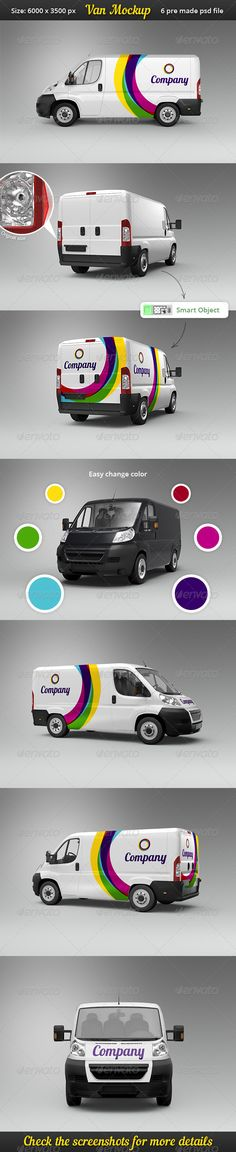 Van Car Mock-Up - Vehicle Wraps Print