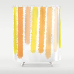 Orange Yellow Shower Curtain - Striped Shower Curtain - Shades of Orange and Yellow - Bathroom Decor  - Made to Order